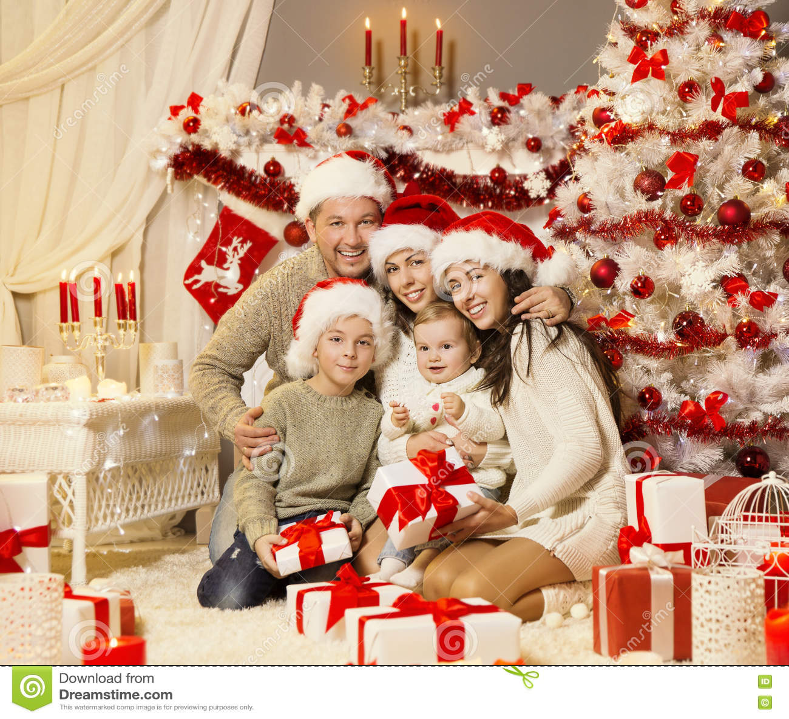 Brc Holiday Celebration Photos 2015: Christmas Family Portrait, Xmas Tree Presents Gifts