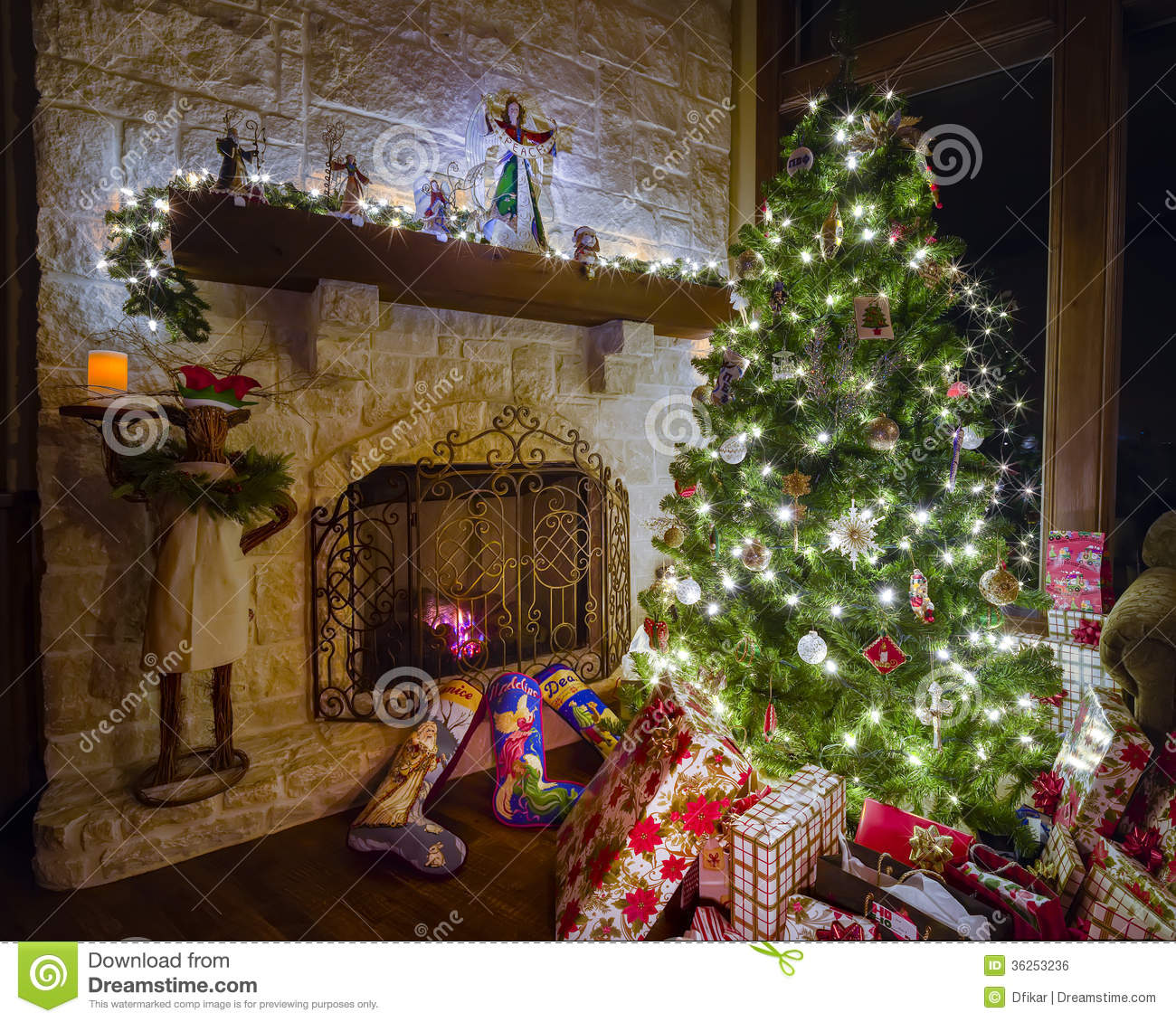christmas in the family room royalty free stock image image