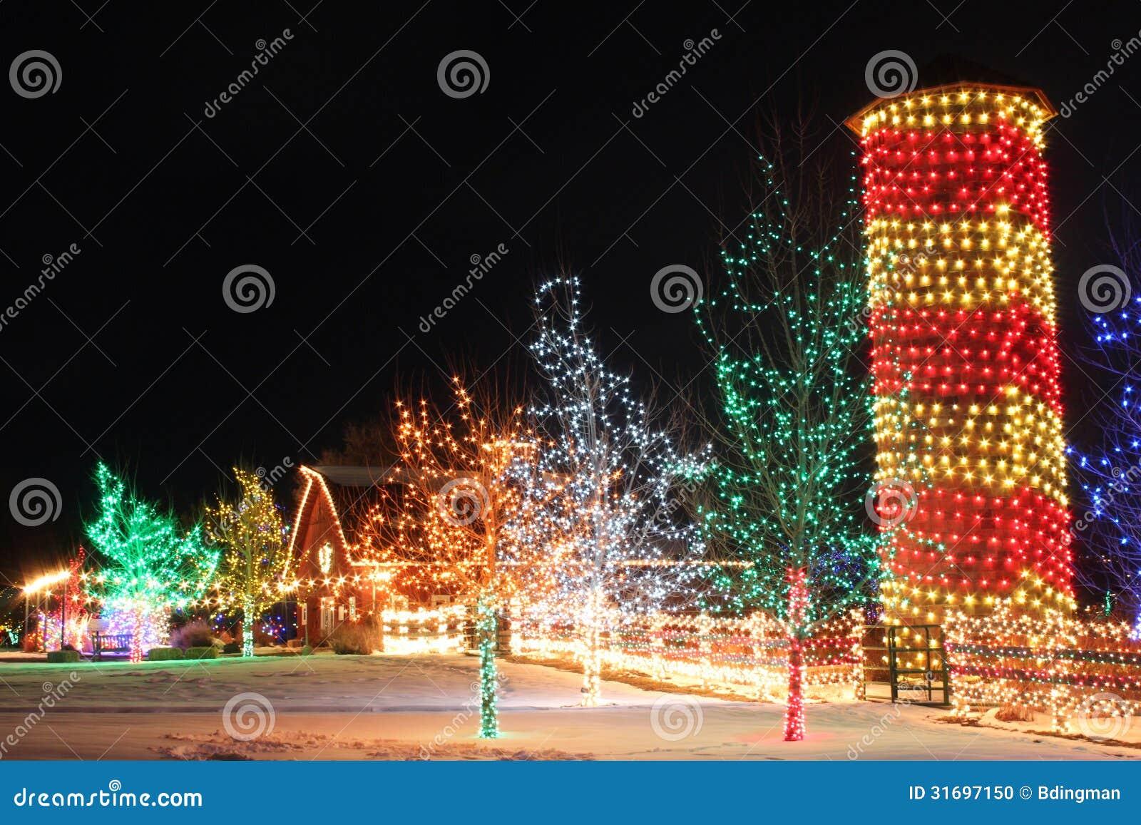 Christmas On The Farm Stock Photo Image Of Silo Colors