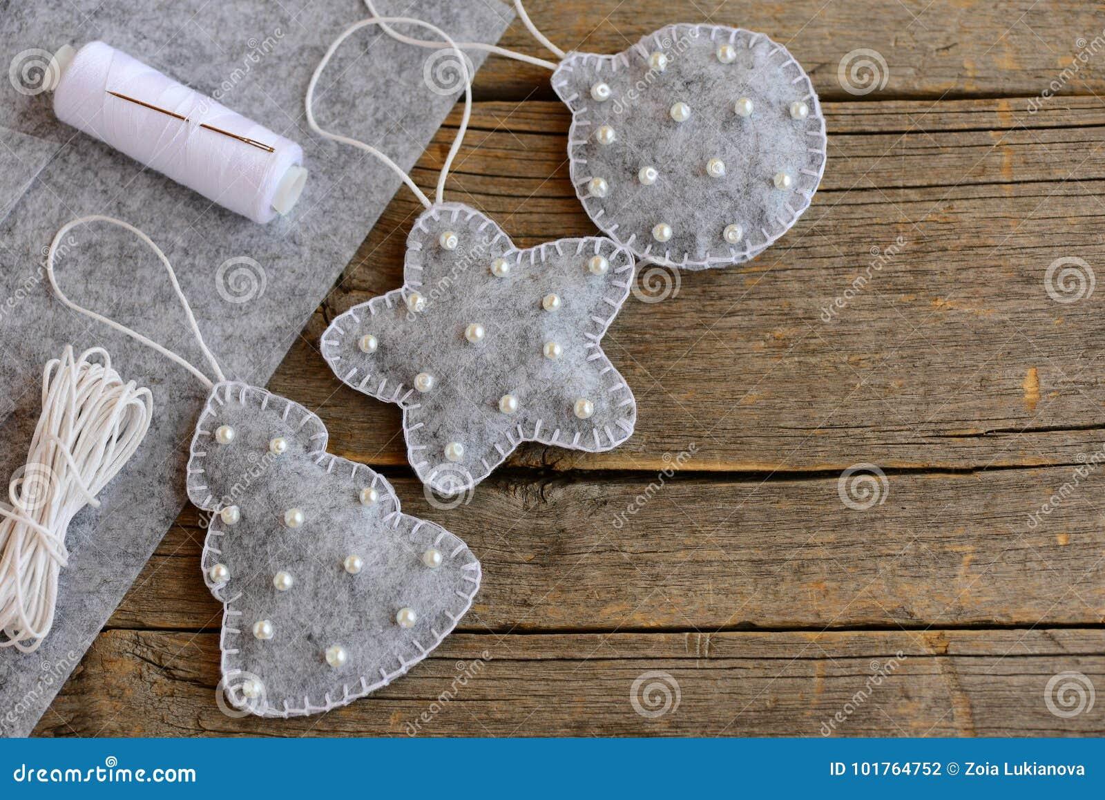 Felt Christmas Decorations Patterns Free.Felt Christmas Decorations Patterns New Gray Felt Fir Tree