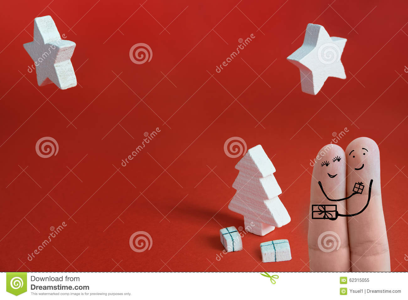 Christmas fingers 2 stock image. Image of abstract, block - 62315055