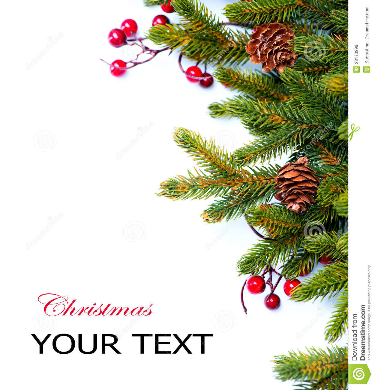 Christmas. Fir Tree Border Design Royalty Free Stock ...