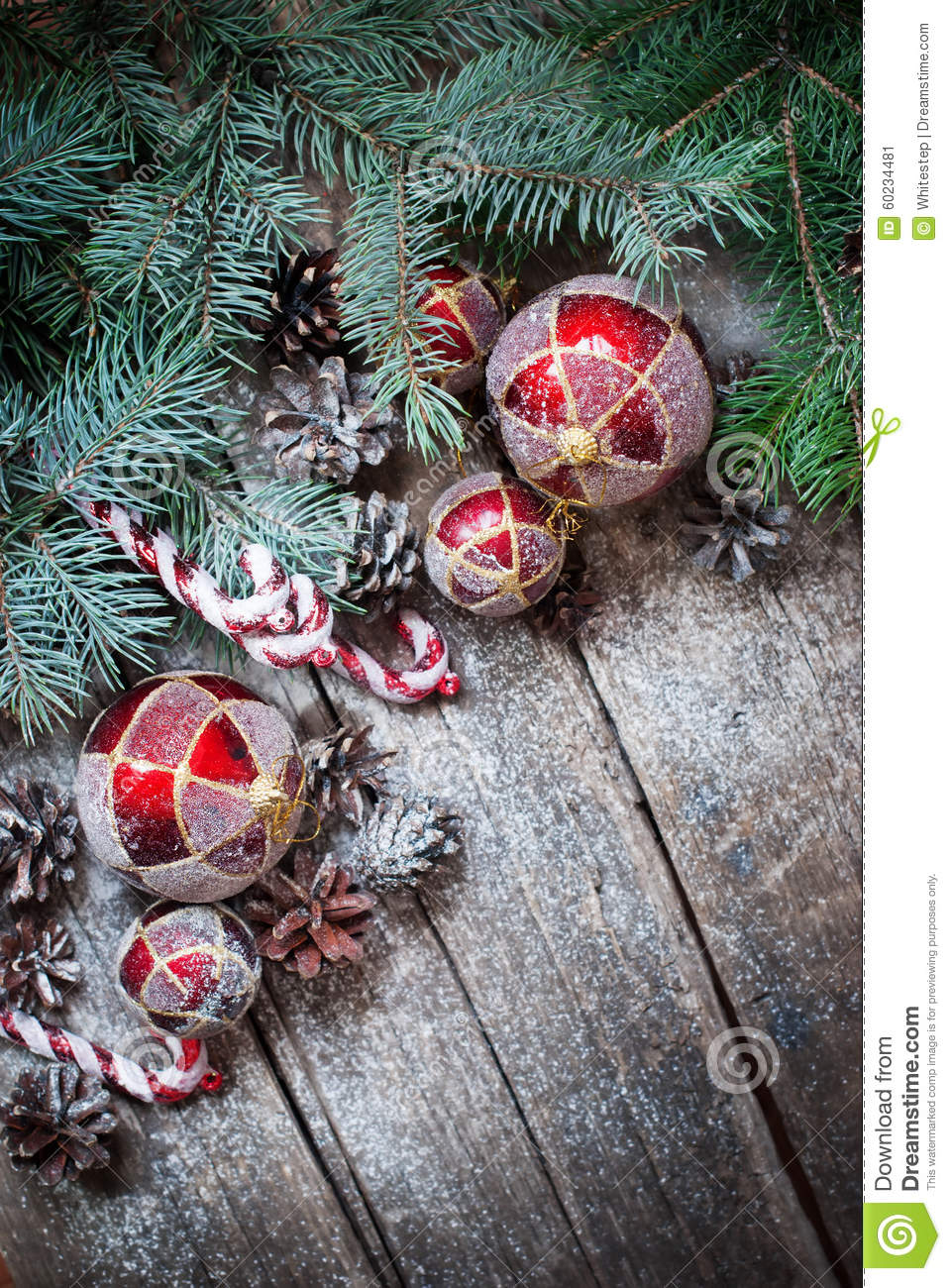 Christmas fir tree toys red balls coniferous candy cane for Fir cone christmas tree decorations