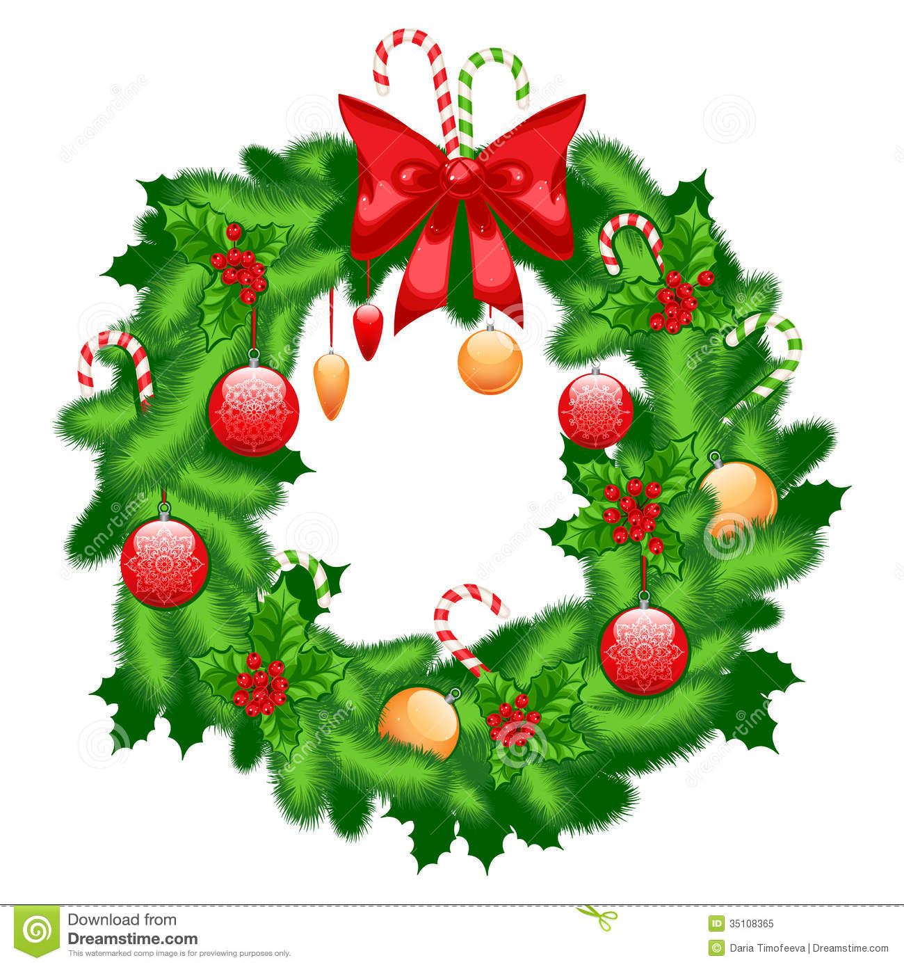 Christmas Fir Wreath Royalty Free Stock Photo Image