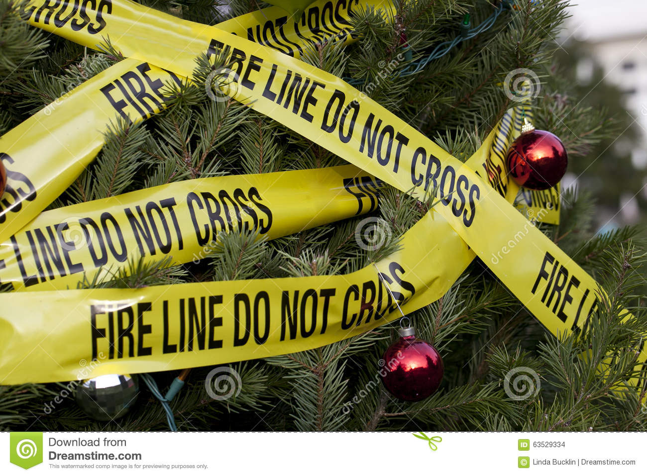 Christmas Fire Hazard Stock Photo Image Of House Prevention 63529334