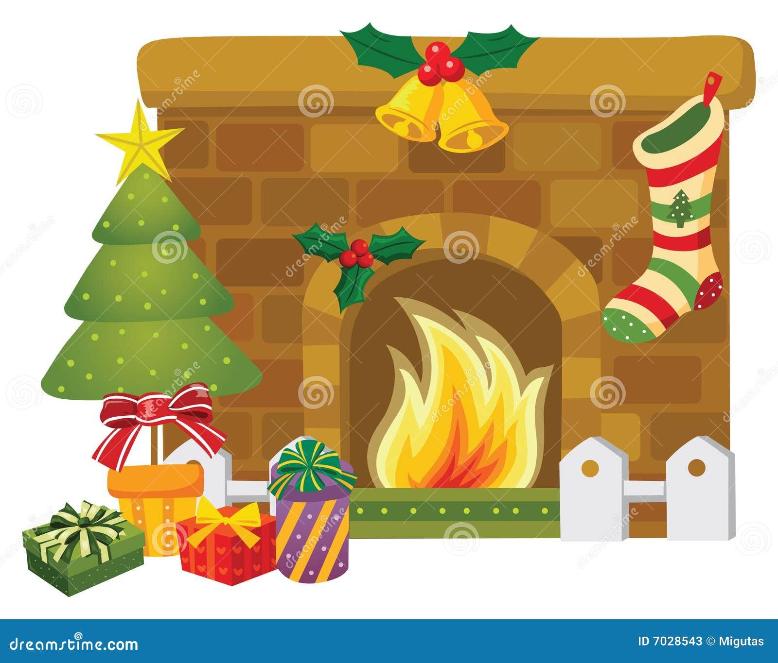 Christmas Fireplace Stock Photos - Image: 7028543