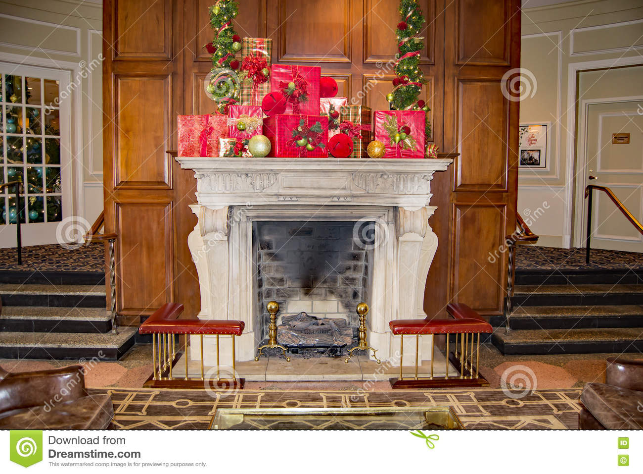 "A Christmas Fireplace at the ""The Hotel Roanoke"""