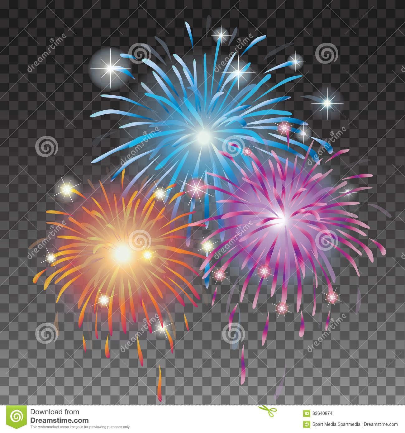 Christmas Fireworks Stock Vector Image Of Event Design