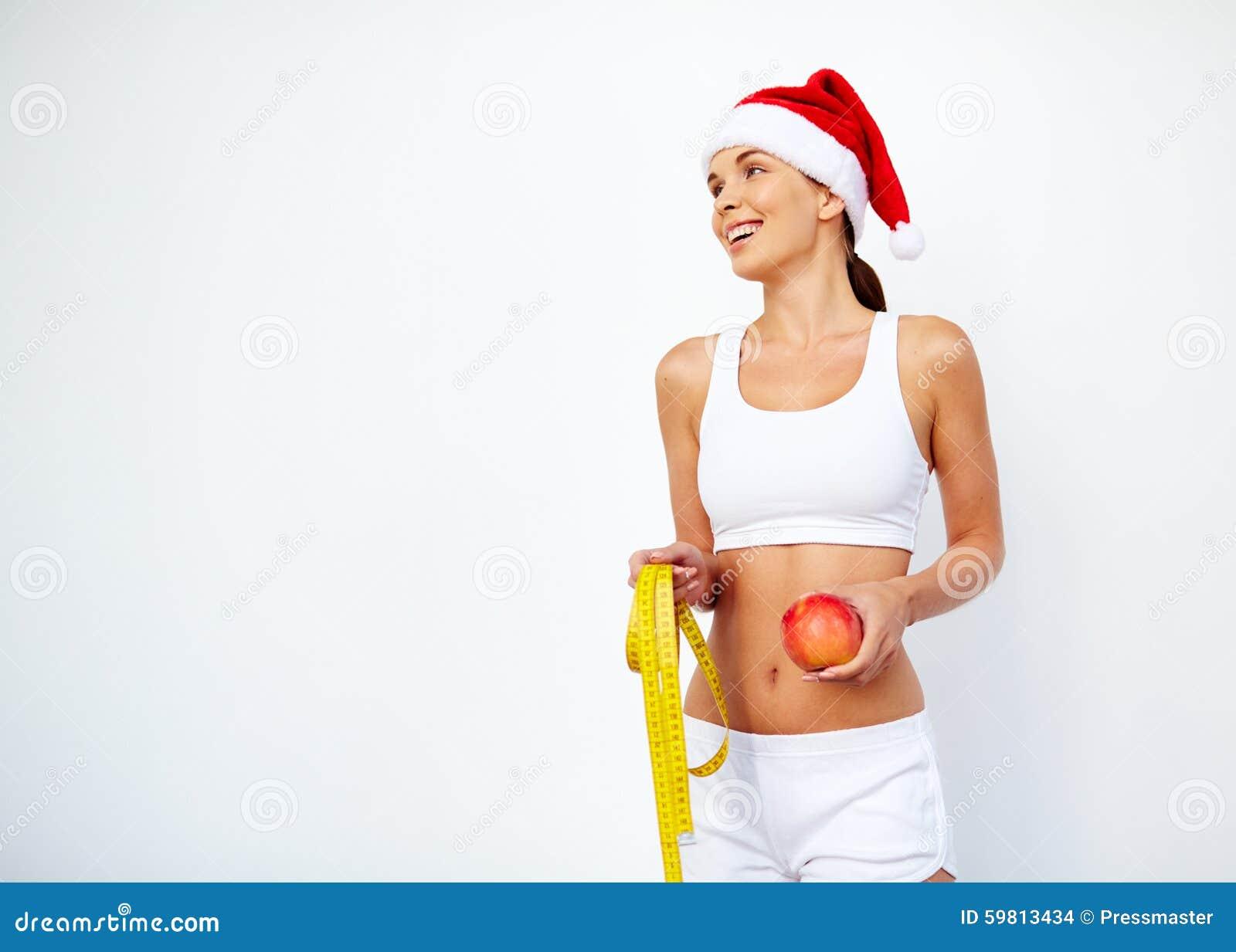 Christmas fitness stock photo. Image of apple, weightloss ...