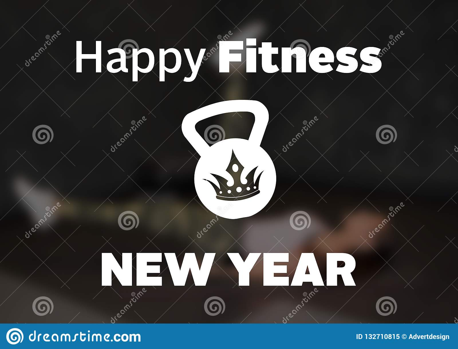 Christmas Fitness And Gym Motivation Quote Stock Illustration Illustration Of Sweat Body 132710815
