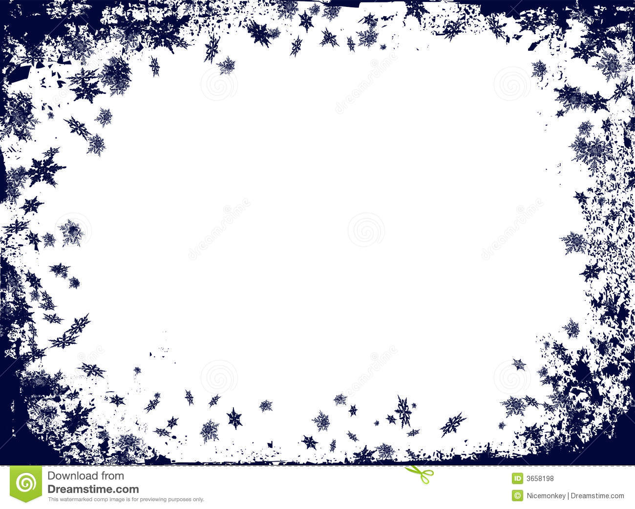 Christmas Decoration Themes Christmas Flake Border Stock Illustration Image Of Frosty