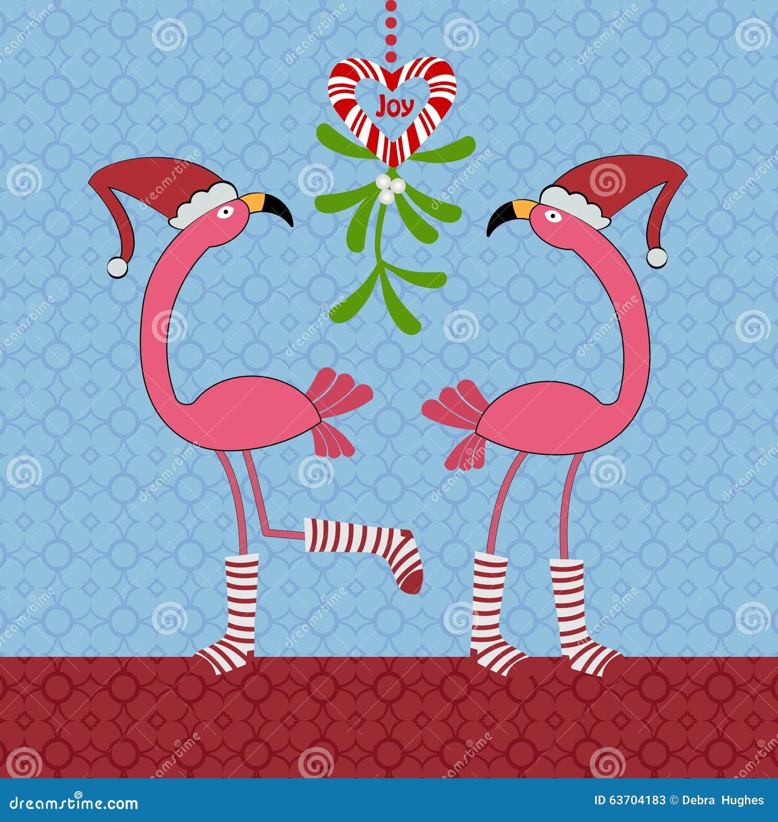Christmas Flamingos Stock Vector - Image: 63704183