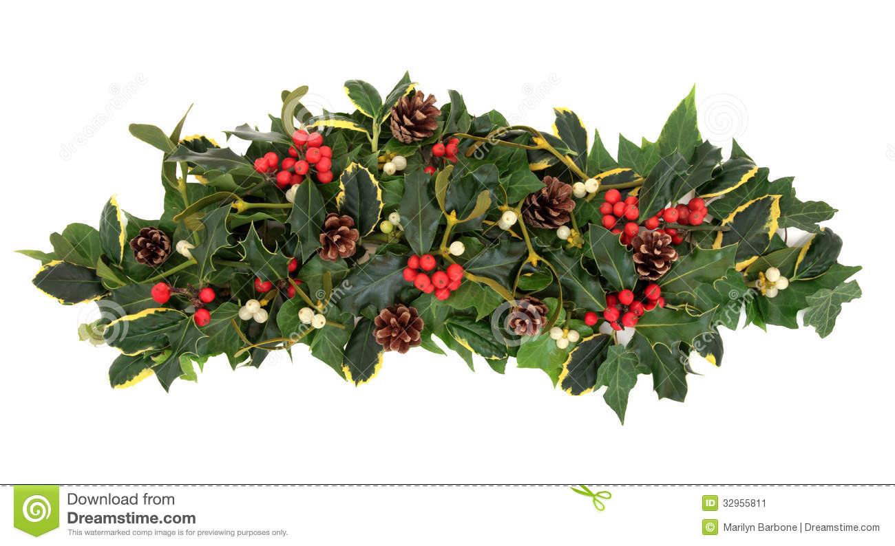 Christmas Greenery Centerpieces.Christmas Floral Arrangement Stock Image Image Of White