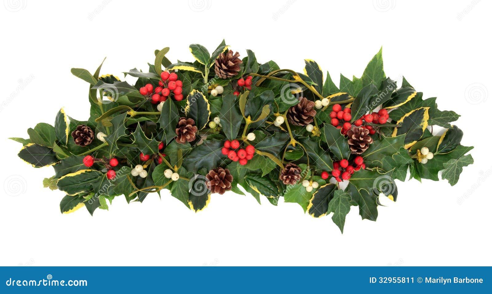 Winter Floral Arrangements Clipart