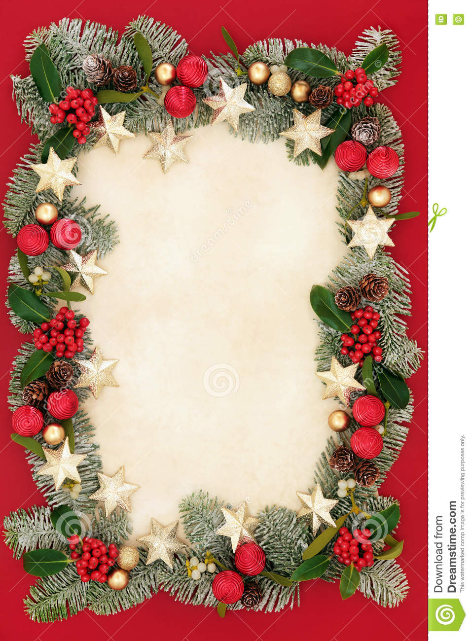 Christmas floral border stock photos freeimages com - Royalty Free Stock Photo Download Christmas Floral Border