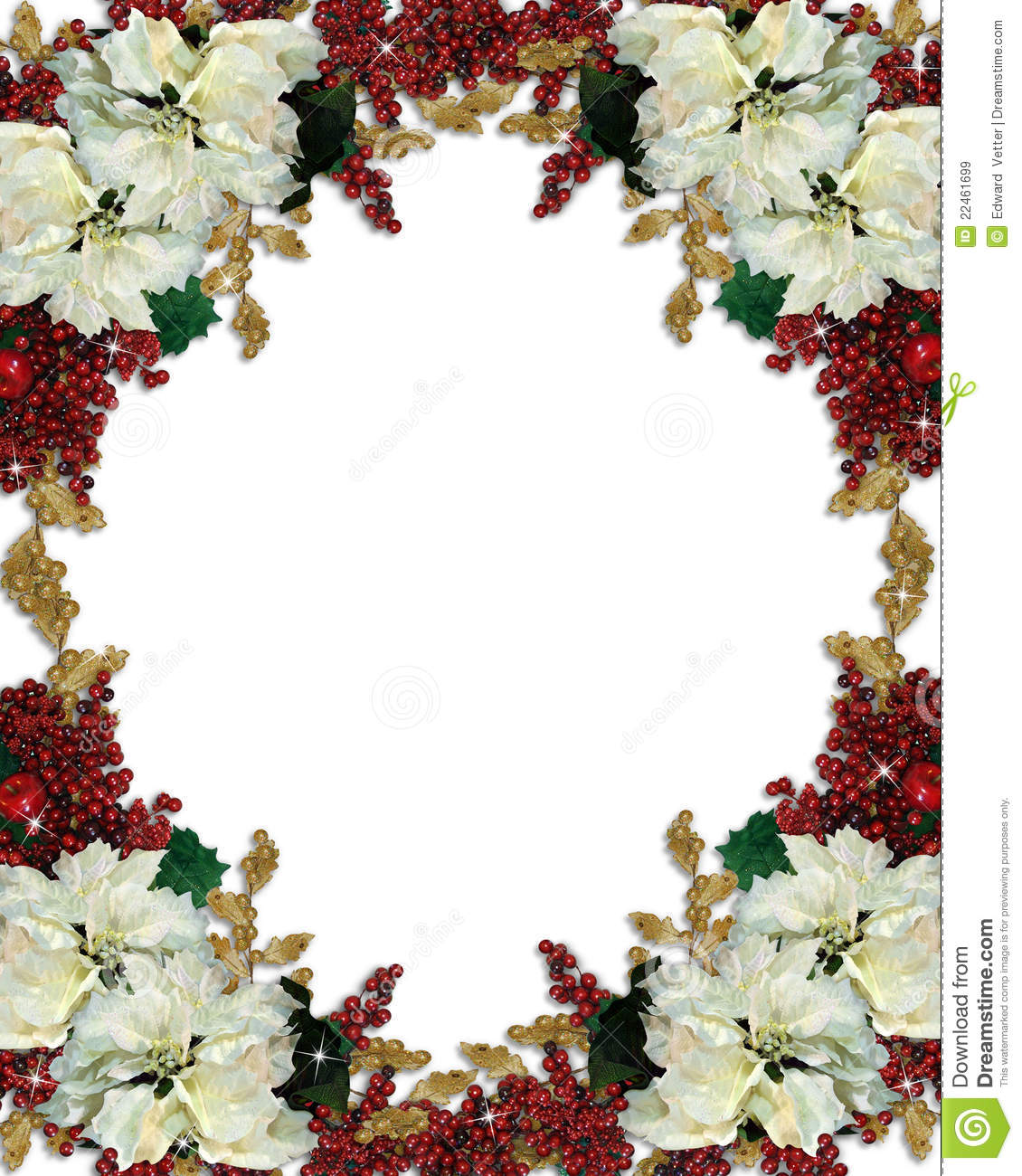 Christmas floral border stock photos freeimages com - Royalty Free Stock Photo Download Christmas Border
