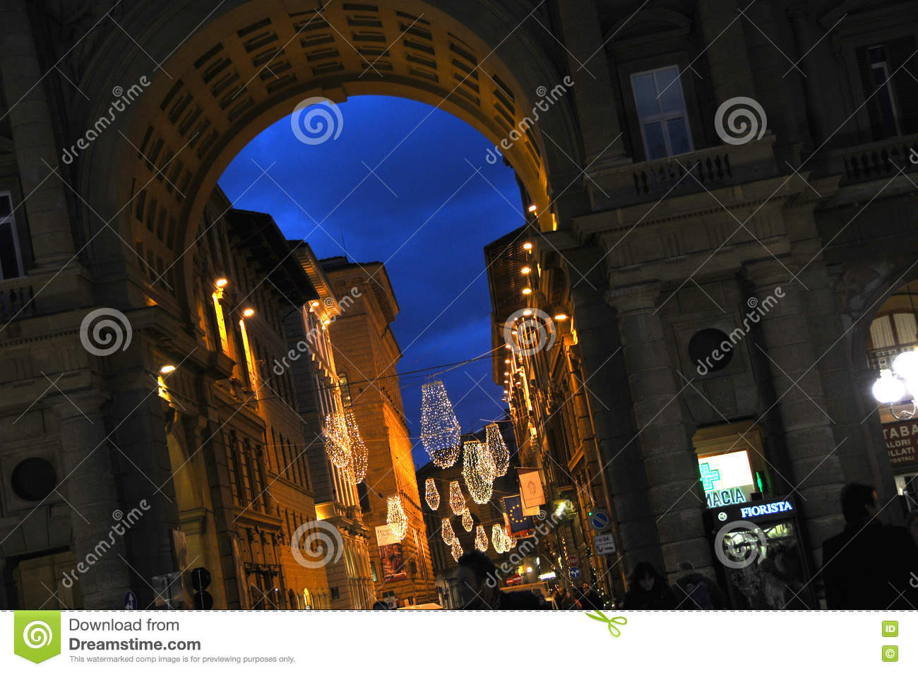 Christmas In Florence Italy.Christmas In Florence Stock Photo Image Of Italian Festive