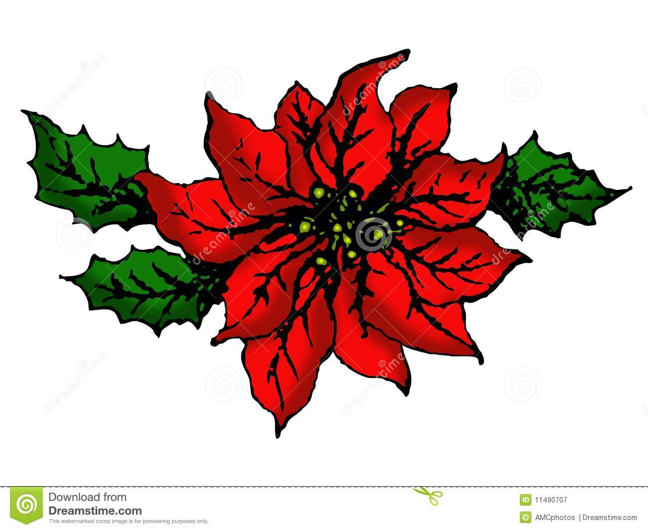 christmas flowers clip art  clipart download, Beautiful flower