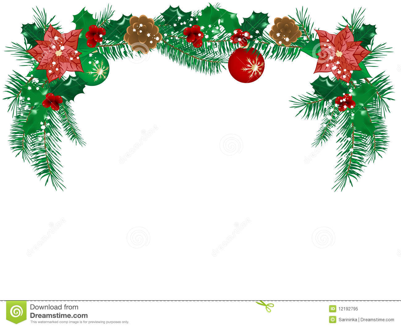 Christmas floral border stock photos freeimages com - Royalty Free Stock Photo Download Christmas Flower