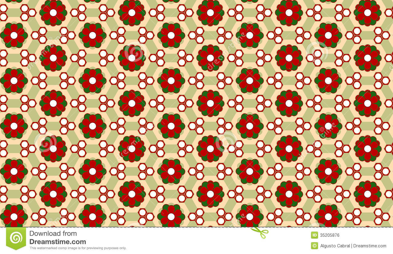 Christmas flower background seamless pattern stock vector