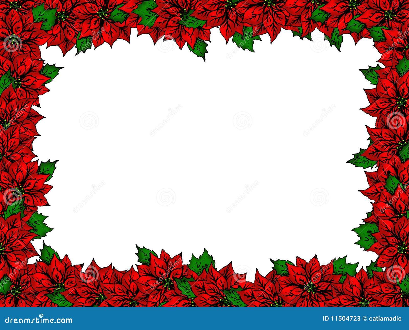 christmas flower border