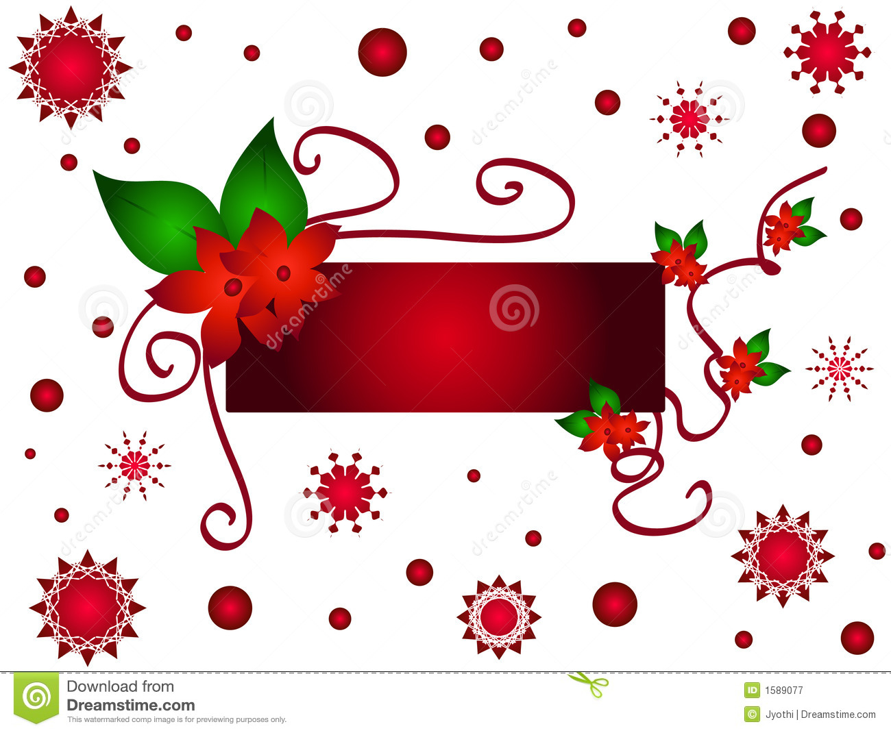 Christmas Flower Frame Royalty Free Stock graphy Image
