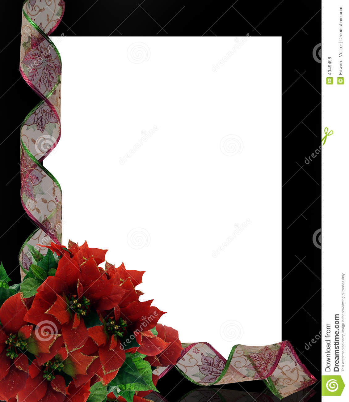 Image and illustration composition for Christmas card, background or ...