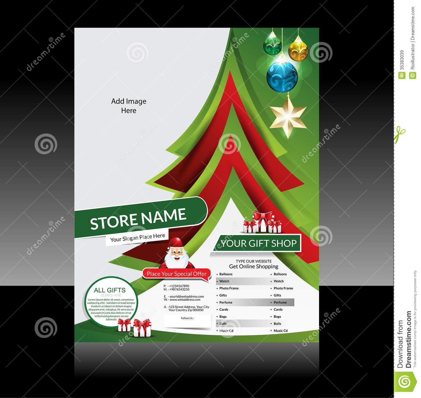 flyer template christmas theme and decoration cover design christmas flyer design royalty stock images