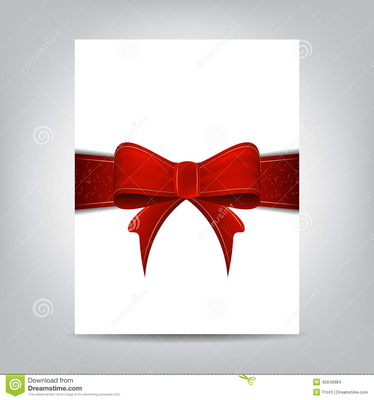 christmas flyer template paper banner with red ribbon stock vector