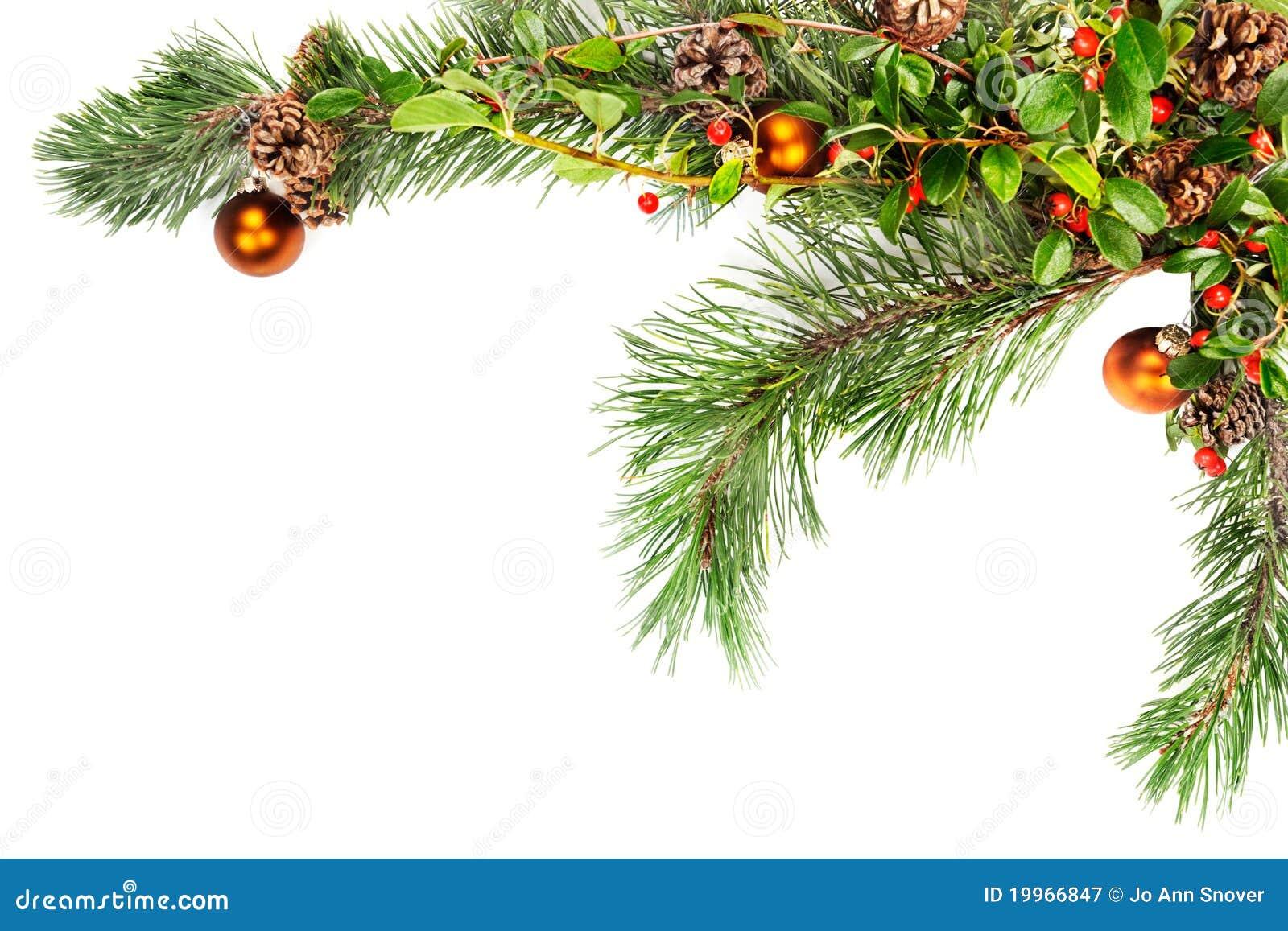 Christmas Foliage Frame Corner Stock Image Image 19966847