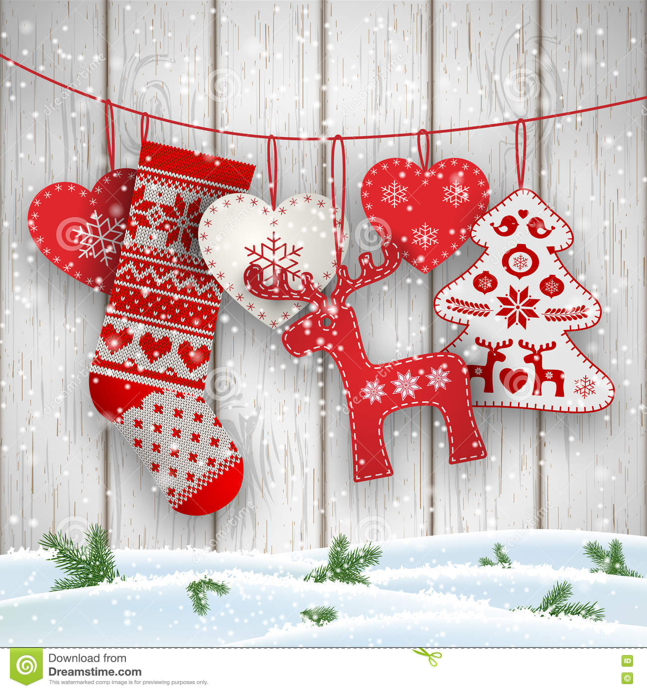 Wall Xmas Decorations Christmas Folklore Decorations Hanging In Front Of White Wooden
