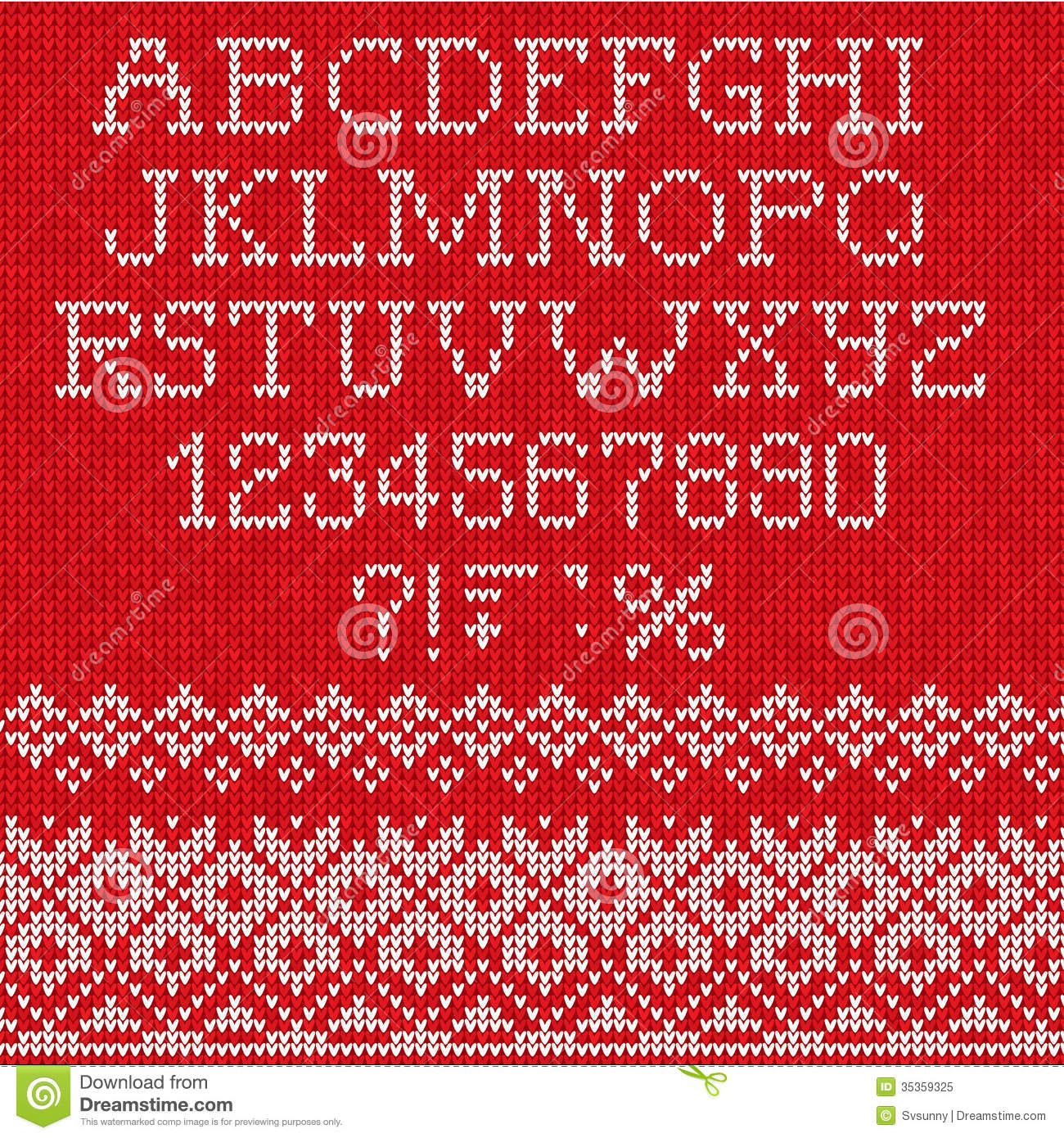 Knitting Font Free Download : Christmas font scandinavian style seamless knitted stock