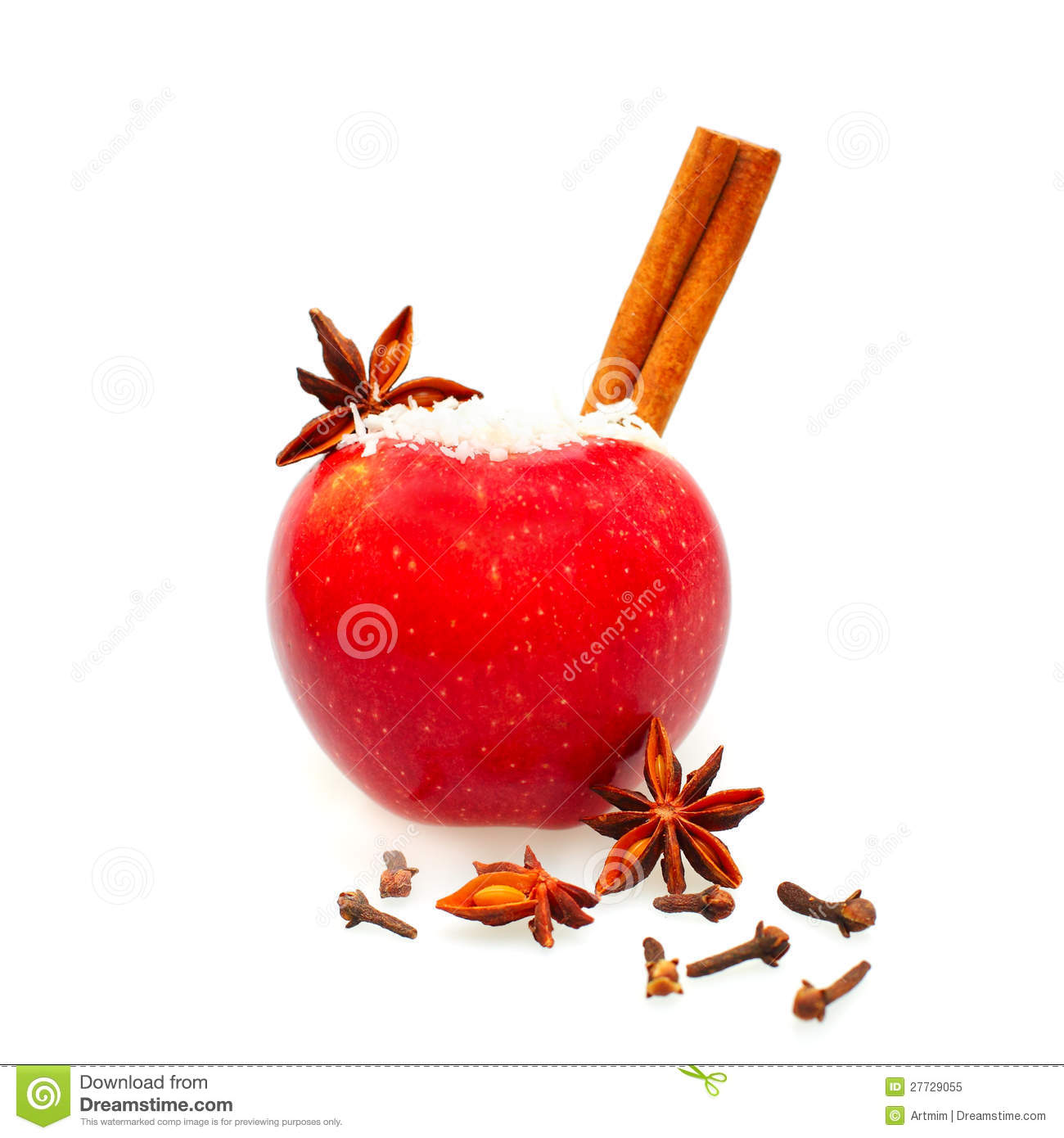 Christmas food decor red apple royalty free stock photo for Apples decoration