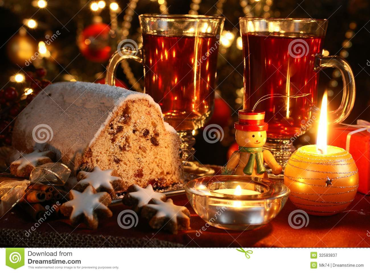 christmas food stock image image of night cookies sweet