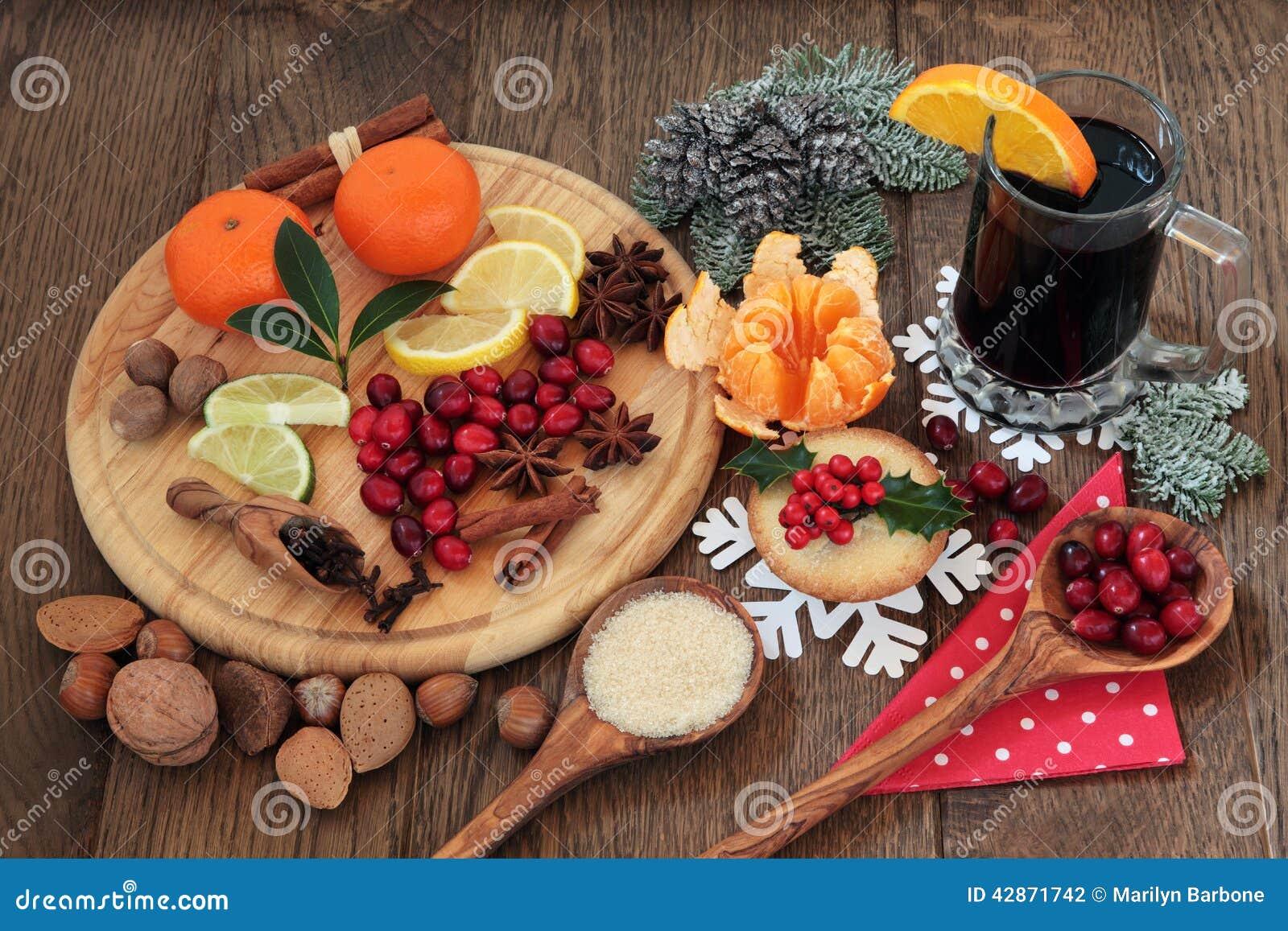 Christmas Food And Wine Stock Photo Image 42871742