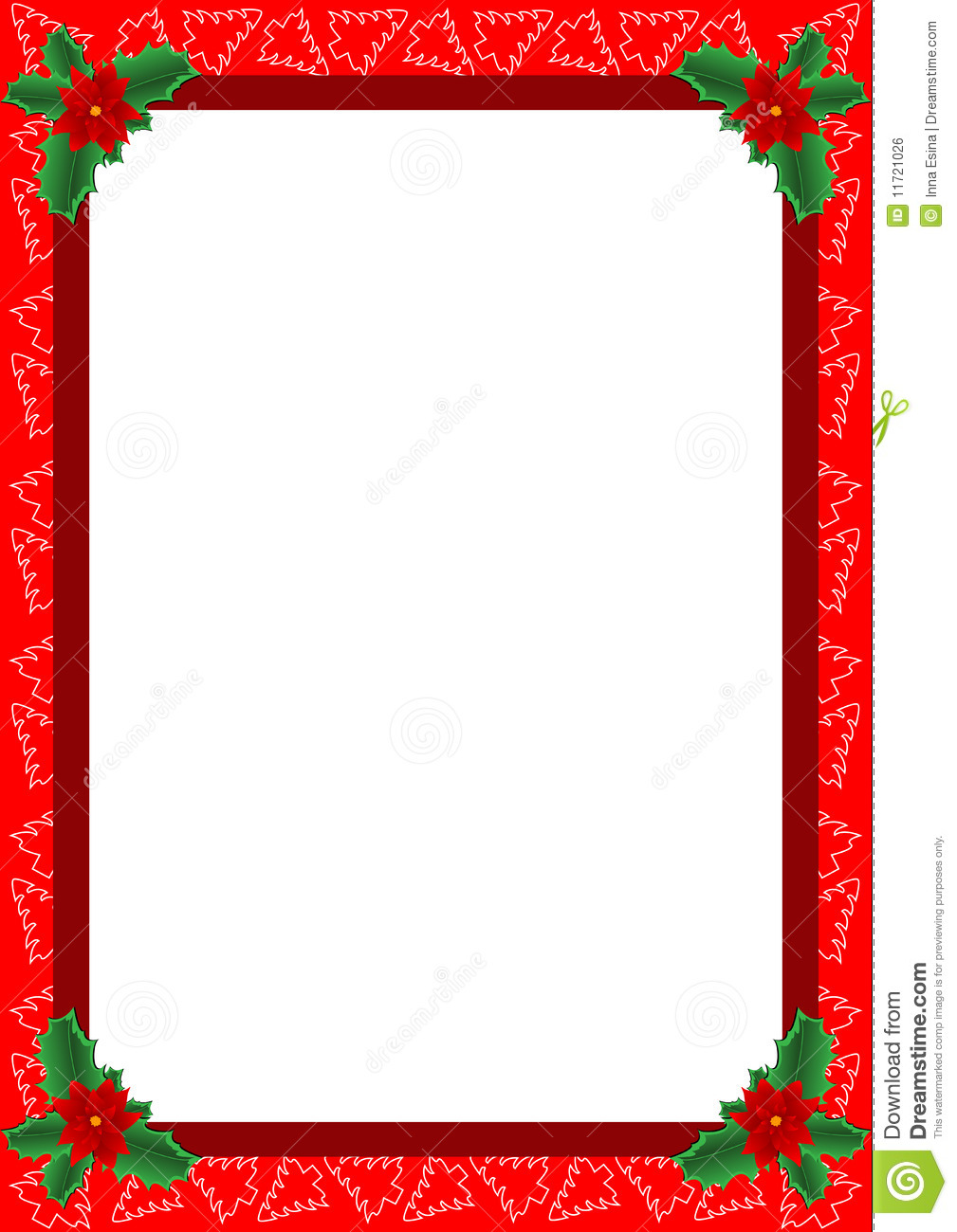Christmas Frame Stock Image Clipart Vector Talli Pictures