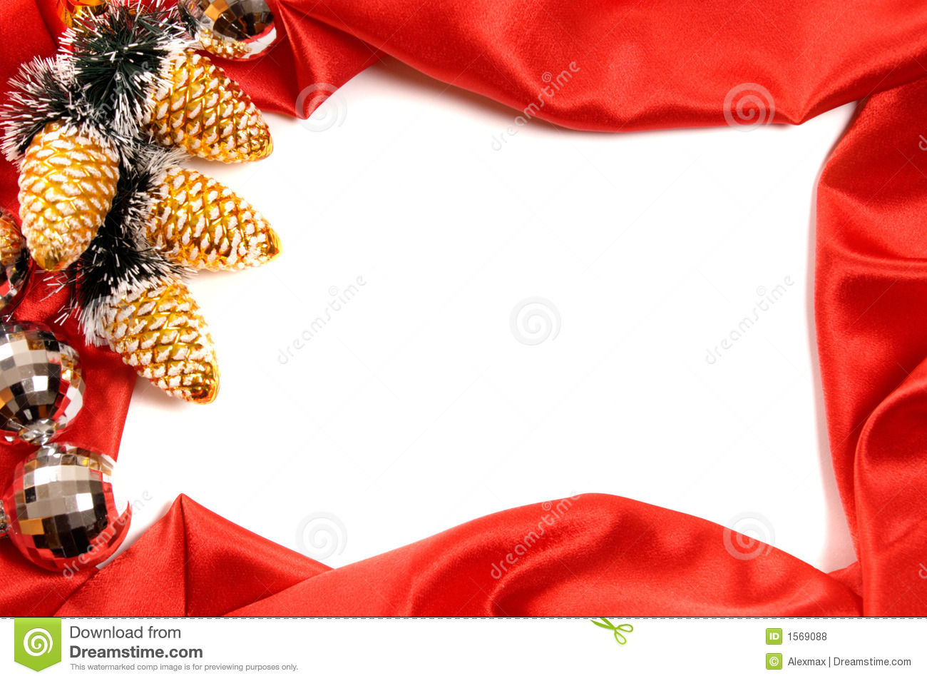 christmas frame stock photo. image of golden, lovely, decorative
