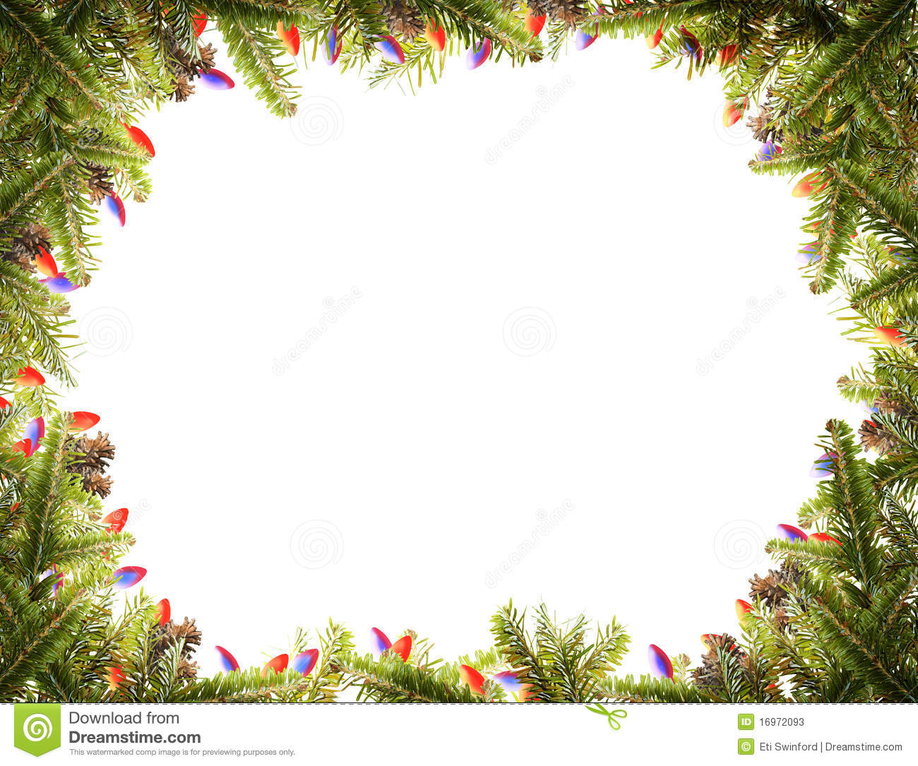 Christmas Frame Stock Image Image Of Landscape Branches 16972093