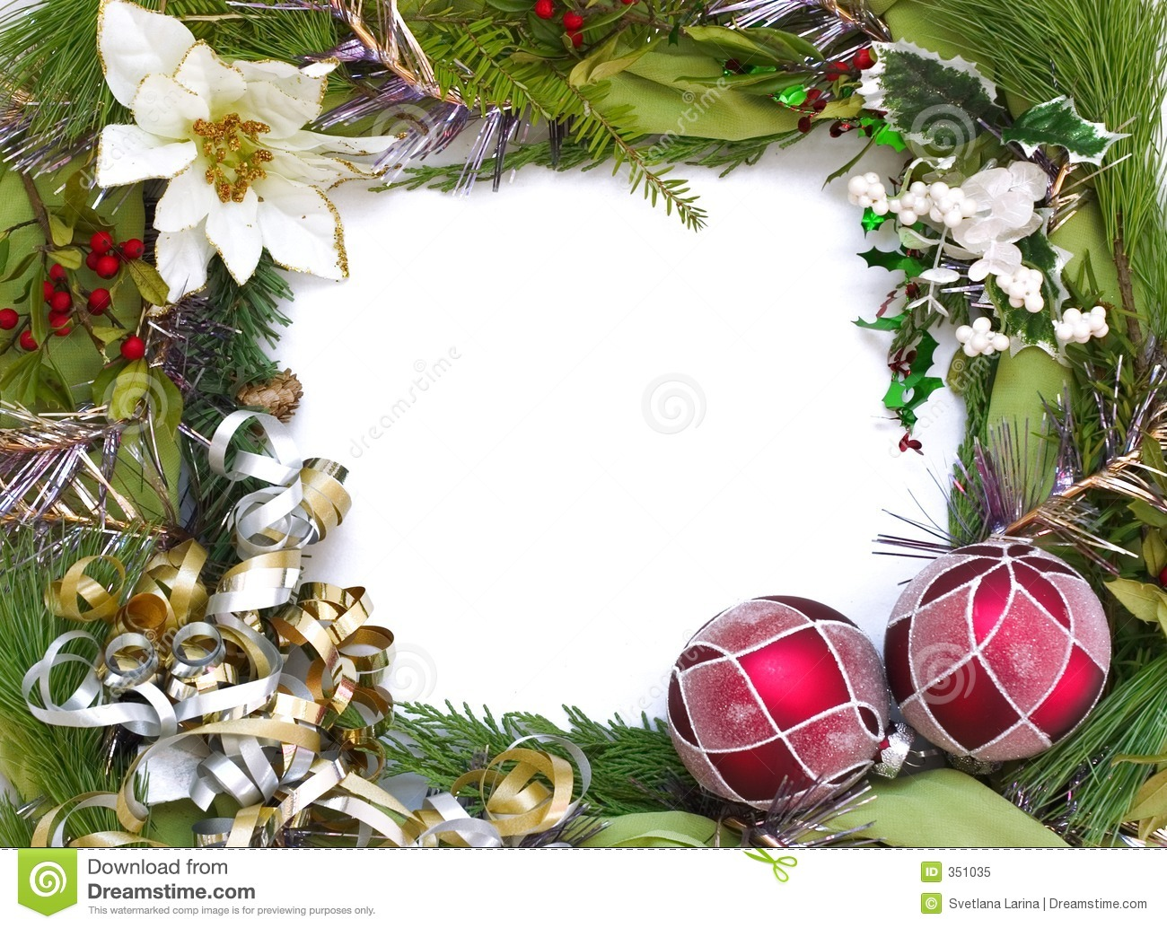 Christmas frame stock image. Image of green, decoration - 351035