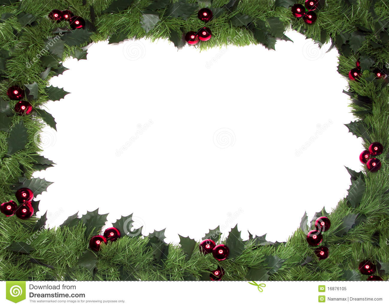 Christmas frame, border