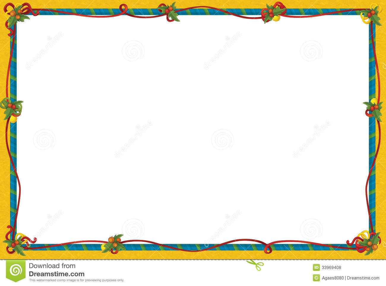 The Christmas Frame - Border - Cartoon Illustration Stock ...