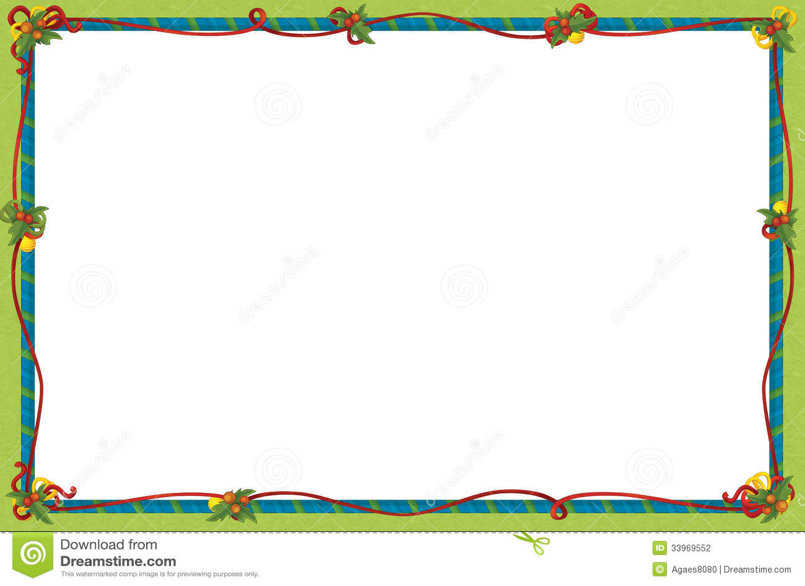 The Christmas Frame Border Cartoon Illustration Stock