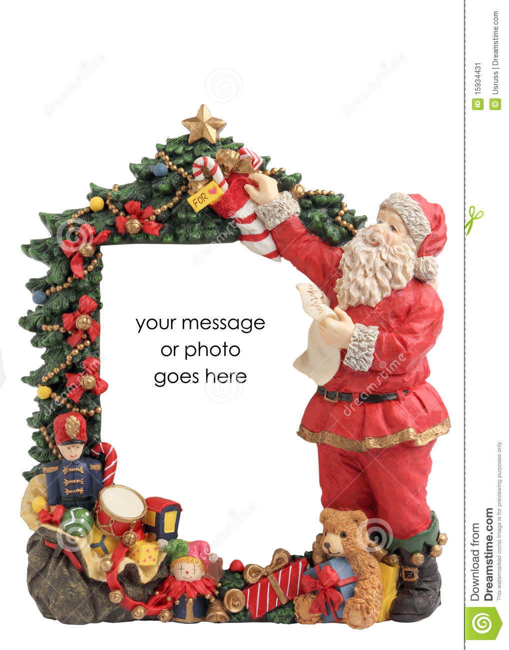 Christmas Frame Border For Inserts. Stock Image - Image of bell ...
