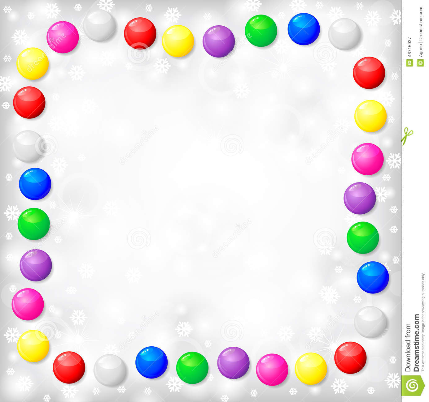 Christmas frame of color balls on blur gray background stock vector image 46715937 - Cadre photo dessin ...