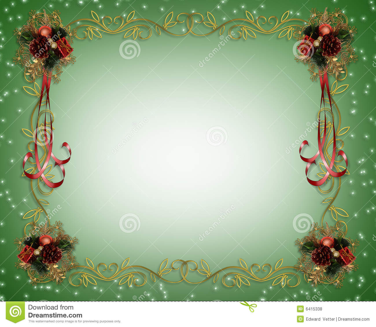 Christmas Frame Fancy Border Royalty Free Stock Photos - Image ...