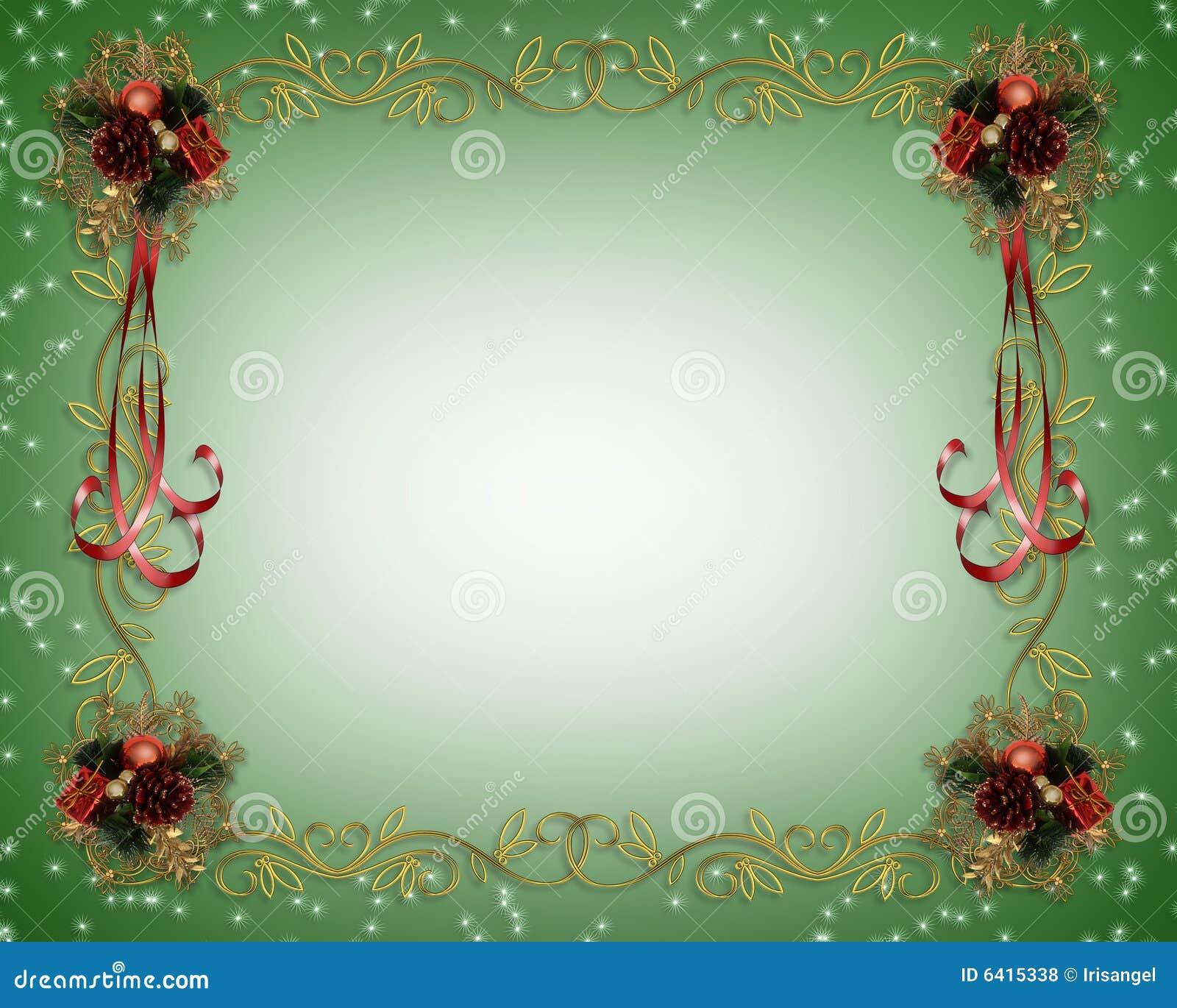 christmas frame fancy border stock illustration