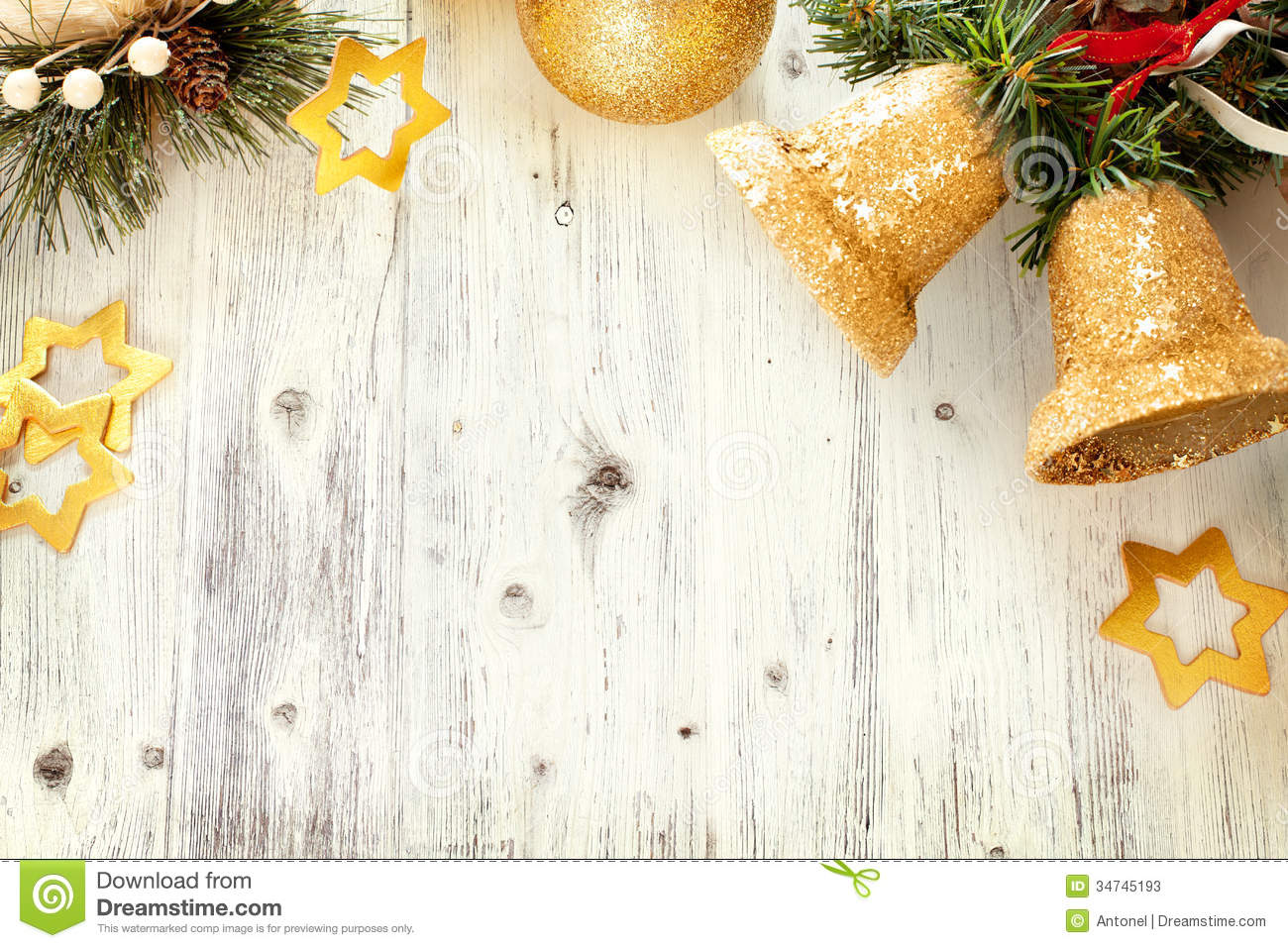 Silver and golden background of defocused abstract lights bokeh - Christmas Frame With Free Space For Text Stock Photos