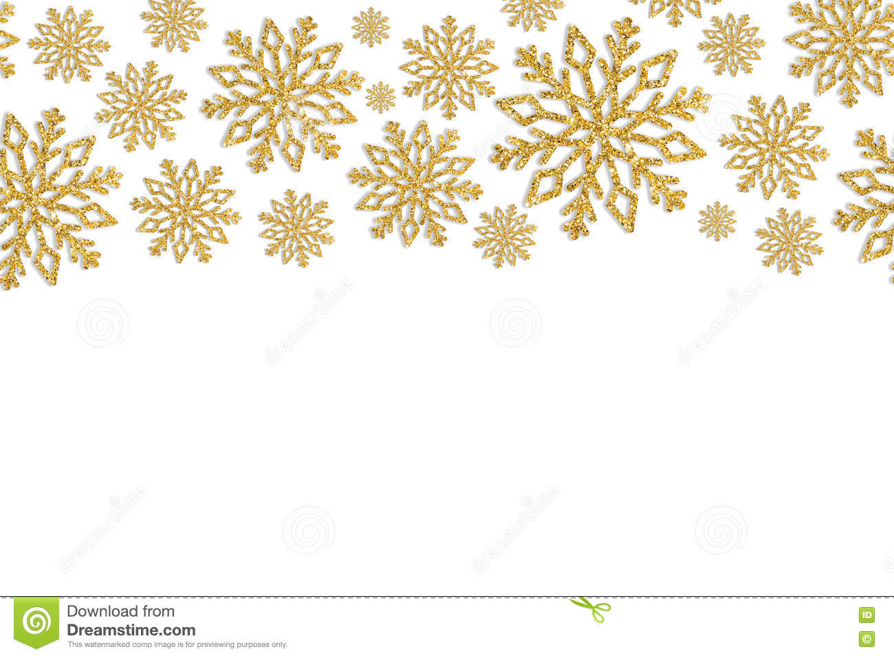 christmas frame with gold snowflakes border of sequin Snow Flake Border Snowflake Border Clip Art