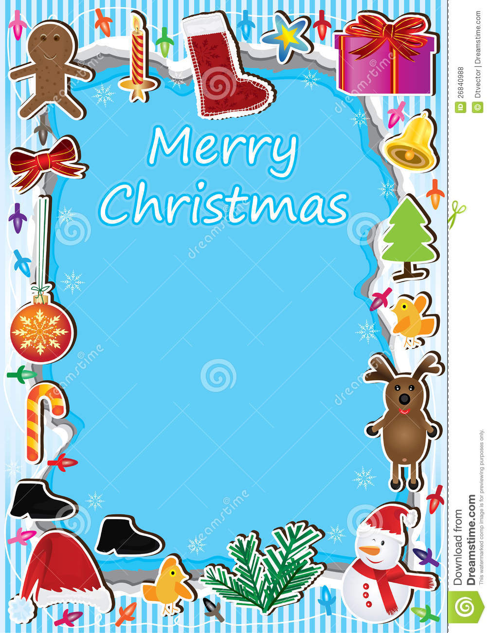 Free Christmas Borders For Word Documents Christmas frame light card ...