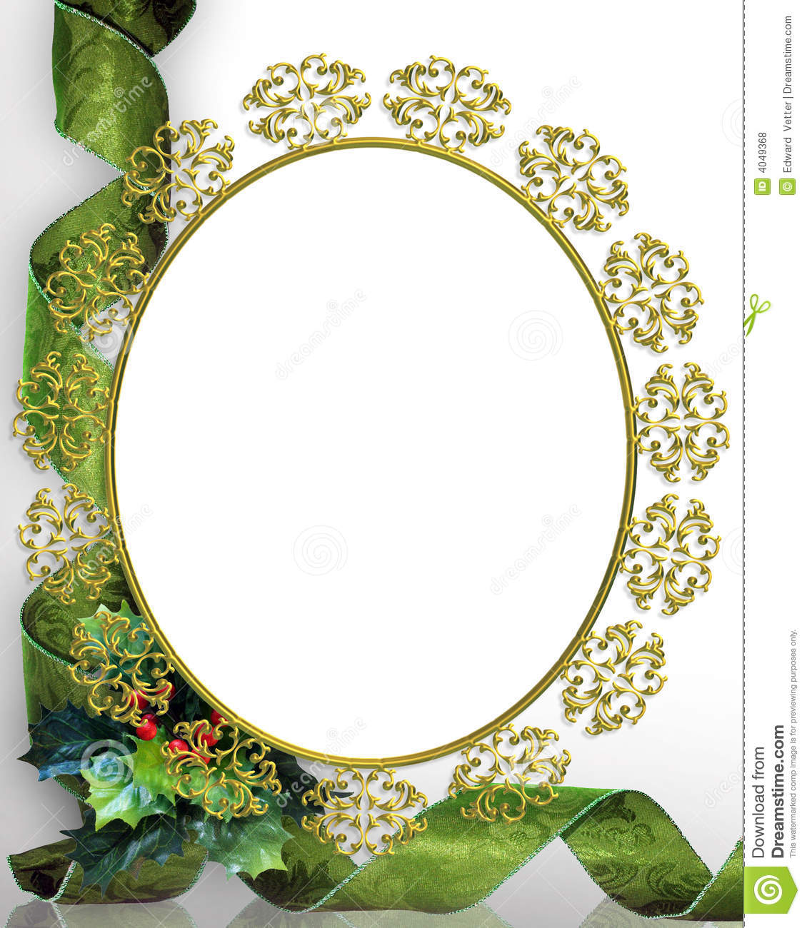Christmas Frame Picture Oval Royalty Free Stock Photos ...